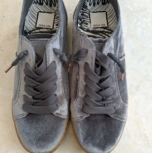 DOLCE VITA - silver lace up shoes
